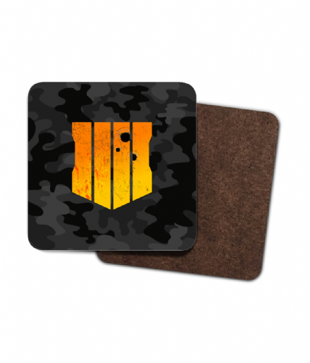 4 Pack Coasters Distressed Camouflage Badge Inspired By Call of Duty Black Ops 4